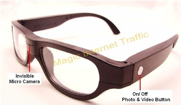 video recording glasses spy camera