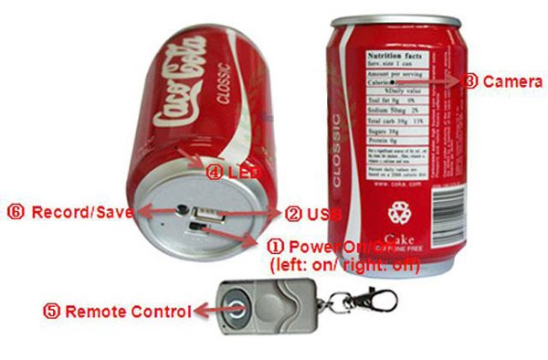 coca cola can spy camera